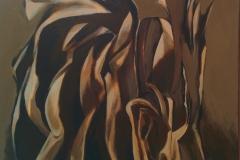 Alberto Schunk, 60x60, acrilico sobre tela, Atropello