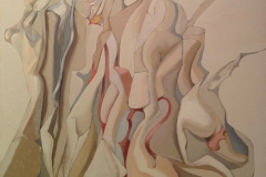 Alberto Schunk, 60x60, acrilico sobre tela, Despues de la fiesta
