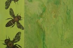 Cecilia Garcia, 60x60, Oleo sobre tela, Abejas-min