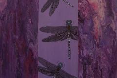 Cecilia Garcia, 60x60, Oleo sobre tela, Libelulas-min