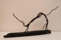 Daniel Siminovich, 57 cm largo, Madera y hierro, Hormiga-min