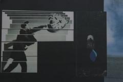 Doris Rawak, 28x38, Collage en papel, El tiempo vuela-min