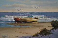 Eduardo Díaz, 30x40, Óleo sobre madera, Playa (2)-min