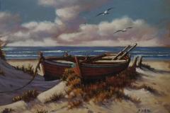 Eduardo Díaz, 30x40, Óleo sobre madera, Playa-min