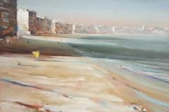 Gustavo-Lara-oleo-sobre-madera-Playa-Pocitos-50x60