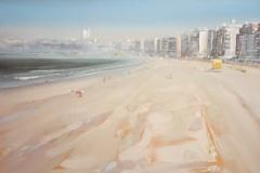 Gustavo-Lara-oleo-sobre-tela-Playa-Pocitos-50x60