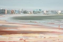 Gustavo-Lara-oleo-sobre-tela-Playa-Pocitos-91x34
