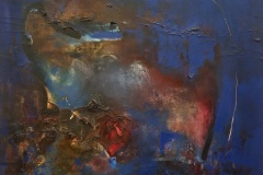 Gustavo-Lara-olo-sobre-tela-85x85-Abstracto-en-Azul