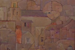 Javier-Velazquez-41x34-Oleo-collage-sobre-madera-Composicion