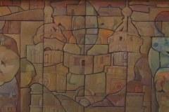 Javier-Velazquez-70x30-Oleo-collage-sobre-madera-Figura-y-paloma