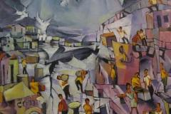 Ciudad-oleo-sobre-madera-50x60