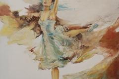 Martha Escodeur, 60x50, Óleo sobre tela, Bailarina