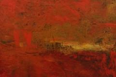 Martha Escondeur, 70x60, Óleo sobre madera, Tormenta
