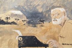 Hemingway oleo sobrepapel y tela 95x58-min