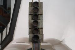 Octavio-Podesta-190-cm-alto-Hierro-y-cuerda-Colgante