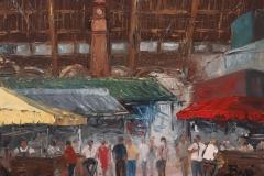 Rosario Baro, 30x40, Oleo sobre madera, Interior del Mercado