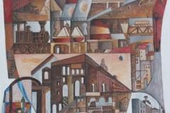 Washington-Febles-oleo-y-acrilico-sobre-madera-85x106-Paisaje-Urbano